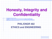 Honesty, Integrity, and Confidentiality