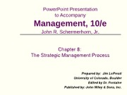 ch08_RF - PowerPoint Presentation to Accompany Management 10