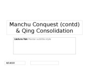 Qing Consolidation[10]