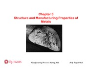 03 - Structure and Manufacturing Properties of Materials