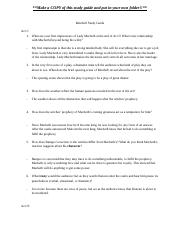 Copy of Macbeth Study Guide