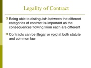 Lecture 7 Legality of Contract