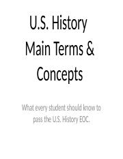 Sem1 US History EOC Review PPT
