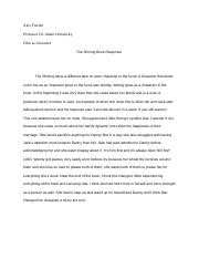 The Shining Book Response .docx