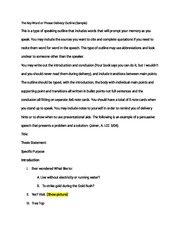 SAMPLE DELIVERY OUTLINE Bullet Intro(1)-2-5
