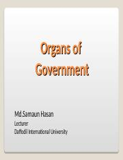 Lecture 11-12 Organs of Govt..ppt