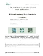 Wk 4 ref mat, An Historic Perspective of Corporate Social Responsibility, (CSR), found online 082417