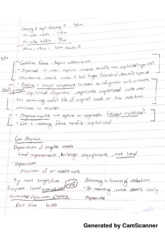 ACT 205- Cost Allocation Notes