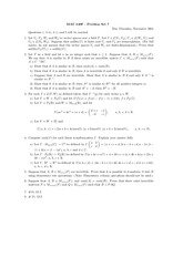Problem set 7 and solutions