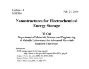 14 Nanostructured Energy Storage