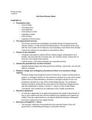 AP U.S. Government and Politics - Chapter 13, 14, 16 Review Sheet.pdf