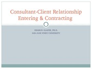 Week 4 Consultant-Client Relationship Entering Contracting
