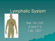 Bio 260 Lymphatic System and Immunity part 1