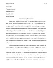 WP 2- Thoreau & King DRAFT