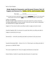 Taylor Robbins Supply and Demand Study Guide.docx
