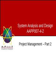 Week04 - Lecture 2 - Project Management