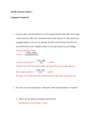 Statistical Analysis MA260 Assignment 08