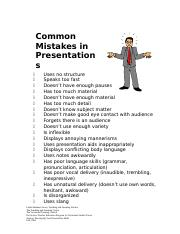 Common Mistakes in Presentations (2)