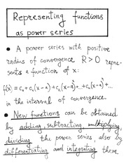 11.9 - Power series of Functions