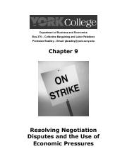 Chapter 9 - Resoving Negotiation Disputes and the Use of Economic Pressures.pdf