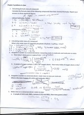 CHEM 104 Chapter 3 In Class Problem Solving