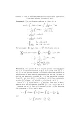 Integral Operator Functions Notes and Answers