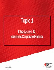BF Lecture Notes Topic 1 (1) ppt - Topic 1 Introduction To