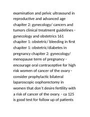 B Study For OBGYN (Page 982-984).doc