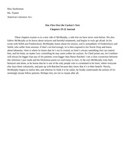 Chapters 19-22 Journal