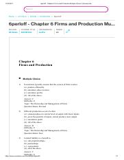 6perloff - Chapter 6 Firms and Production Multiple Choice 1) Economists