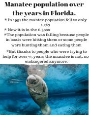 Manatee population over the years