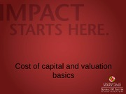 Cost of capital and valuation basics