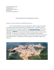Outline - Mountaintop Removal in the Appalachian mountains