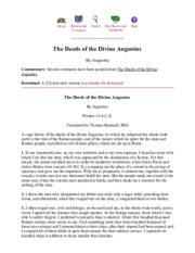 The Internet Classics Archive _ The Deeds of the Divine Augustus by Augustus
