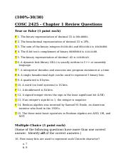 COSC 2425 Chapter 1 Questions.docx