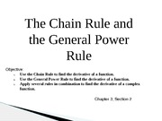 Presentation: The Chain Rule and General Power Rule