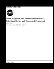 Stress, Cognition, and Human Performance_A Literature Review and Conceptual Framework