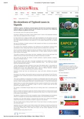 No slowdown of Typhoid cases in Uganda