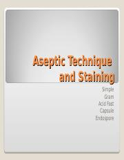 Aseptic Technique & Staining.ppt