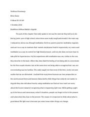 Buddhism Without Beliefs Assignment.docx