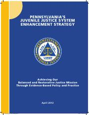 Pennsylvania's Juvenile Justice System Enhancement Strategy - A Monograph