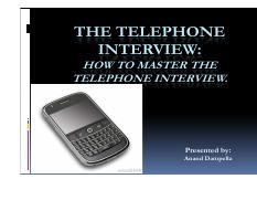 373_21289_Telephonic Interview best ppt
