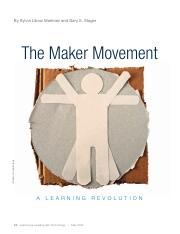 Article11The Maker Movement