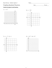 graphing quadratic functions kuta software infinite algebra 1 name graphing quadratic functions date period sketch the graph of each function 1 y x 2 - Graphing Quadratic Functions Worksheet