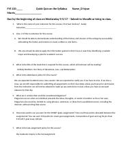 FYS Syllabus Take Home Quiz (2).docx