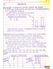 Frequency Distribution Notes