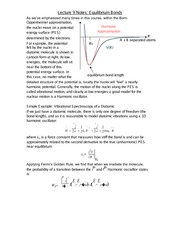 Lecture 9 Notes Equilibrium Bonds