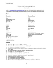 2013F_Computer Basics and Information Processing StudyGuide