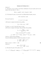 ACT 451 Solution for Problem Set 4