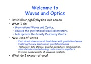 Waves and Optics lectures 1 to 3